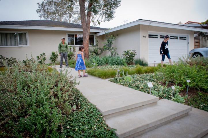 Vibrant Garden Entrance