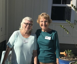 FormLA Landscaping clients and heros Lorraine Sanchez and Hilda Weiss educate fellow Santa Monicans about the native garden at the Santa Monica Conservancy Preservation Resource Center.
